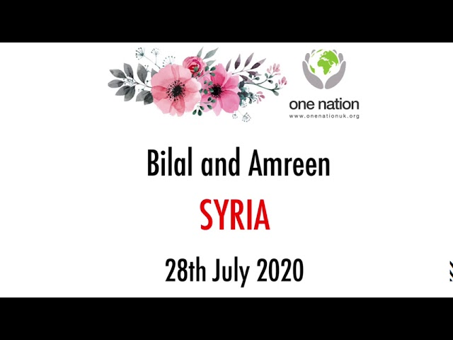 Bilal and Amreen (UK) : Wedding day favours Syria 28th July 2020