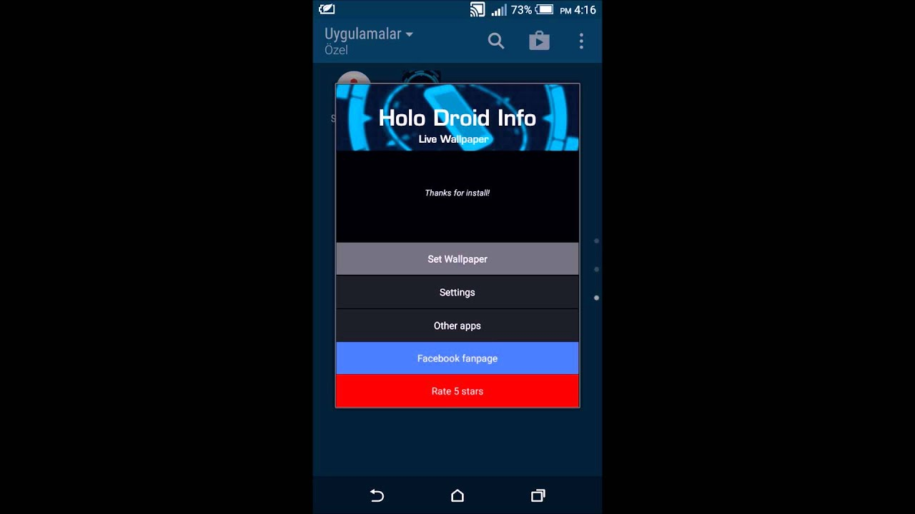 holo info latest version live wallpaper apk