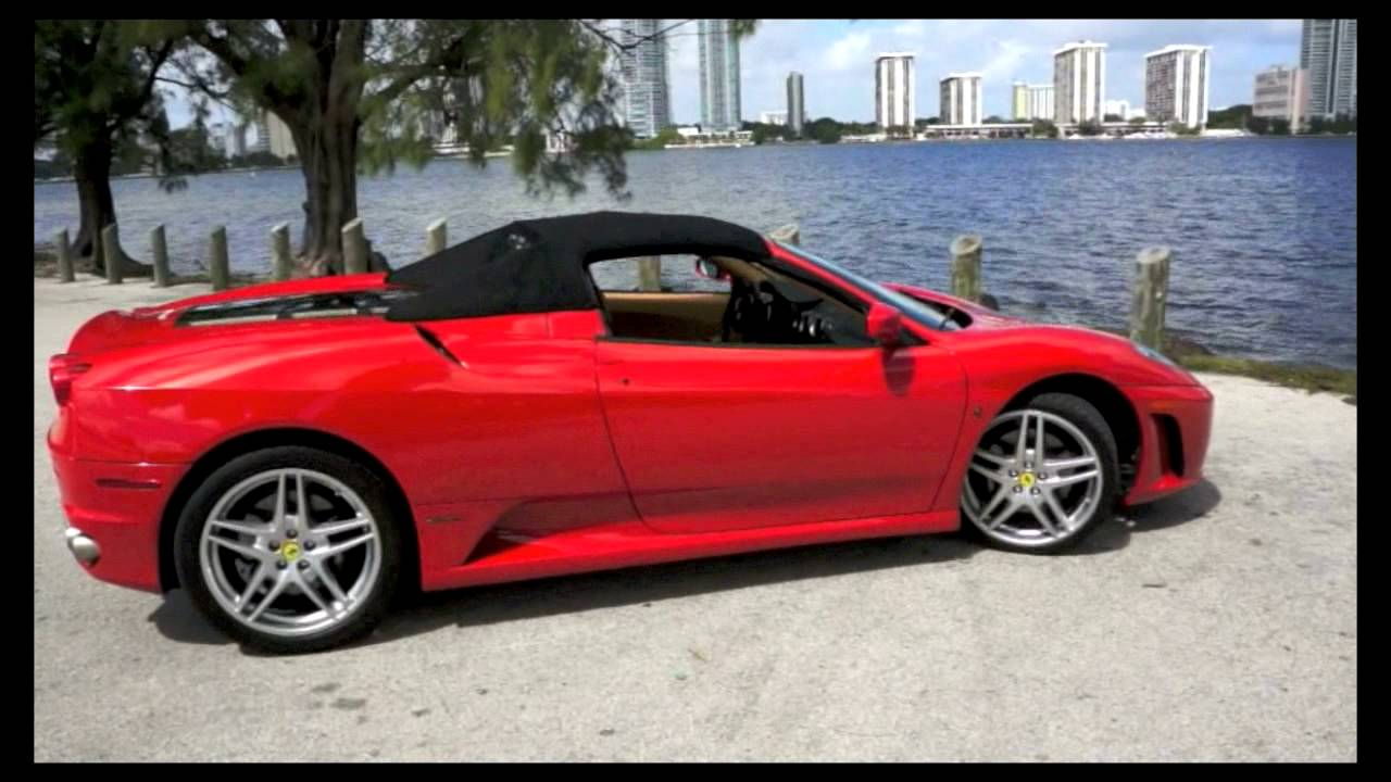 2007 ferrari f430 spider f1 corsa red in miami from brickell