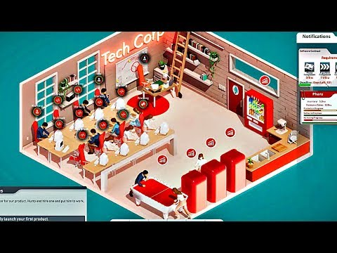 TECH CORP - Gameplay Walkthrough Part 2 | New Office & Creating A Branded Product