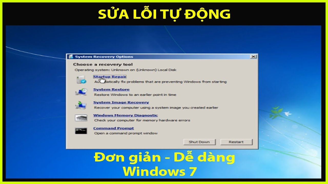 Cách sử dụng Windows Repair để sửa lỗi tự động Windows 7 (How to Repair Windows 7)