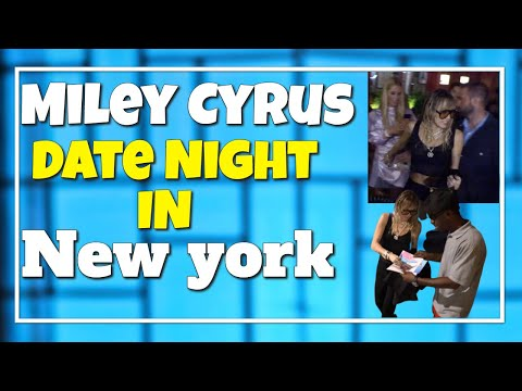 Miley Cyrus Date Night With Her Girlfriend Kaitlynn Carter In NYC 091119
