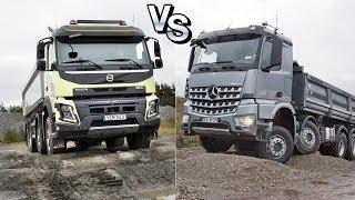 ➤ Войны Грузовиков: Мерседес Арокс против Вольво ФМХ || Truck Wars Mercedes Arocs vs Volvo FMX