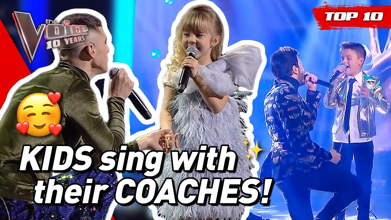 The BEST COACH DUETS in The Voice Kids! ❤️ | #TheVoice10YRS
