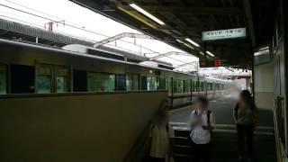 大阪・JR学研都市線河内磐船駅の定点風景 WestJR Gakkentoshi Line,Osaka,Japan