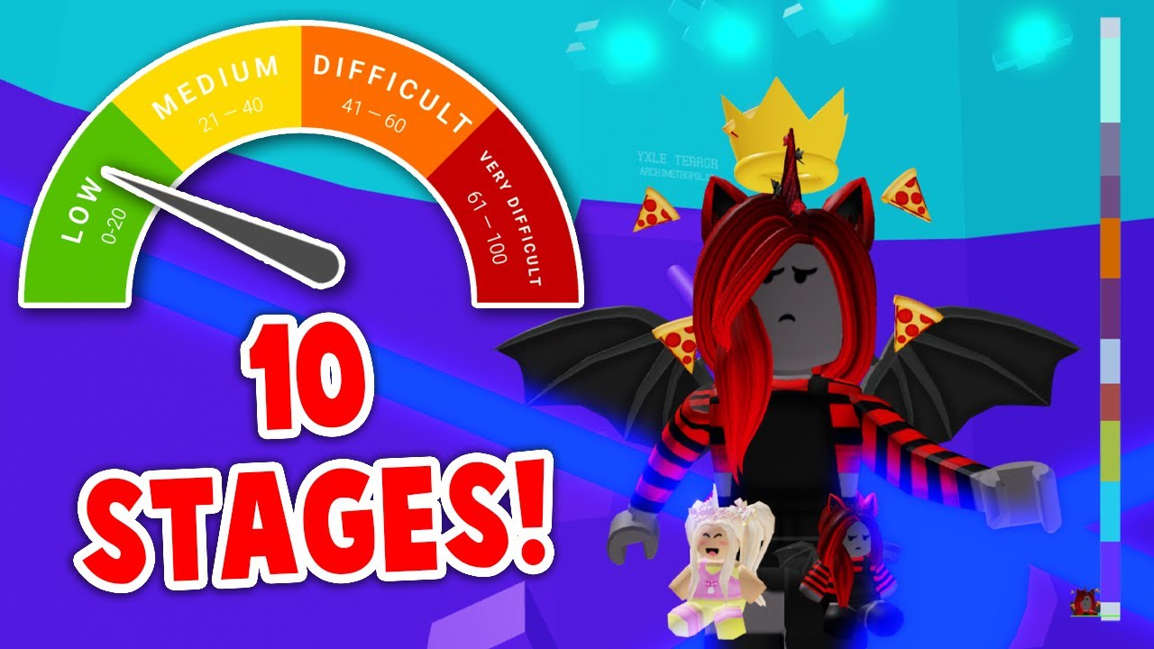 Tower Of Hell But With 10 LEVELS! *EASY MODE* (Roblox)