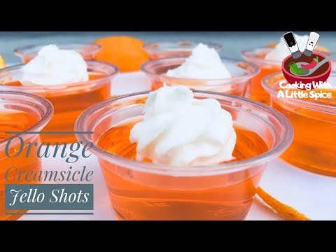 Easy Orange Creamsicle Jello Shots