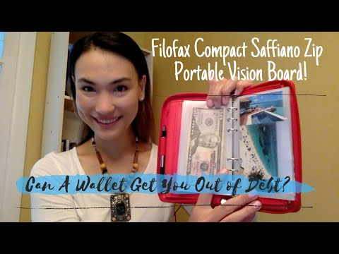 Can A Wallet Get You Out Of Debt?!?!  - Filofax Organizer As Portable Vision Board