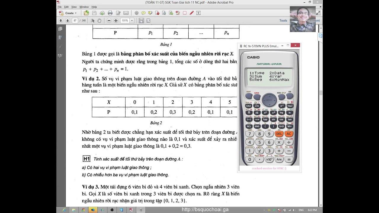 [Toán 11 GT] Chương 2 – Tổ hợp xác suất (9) – Bài 6 – Biến ngẫu nhiên rời rạc