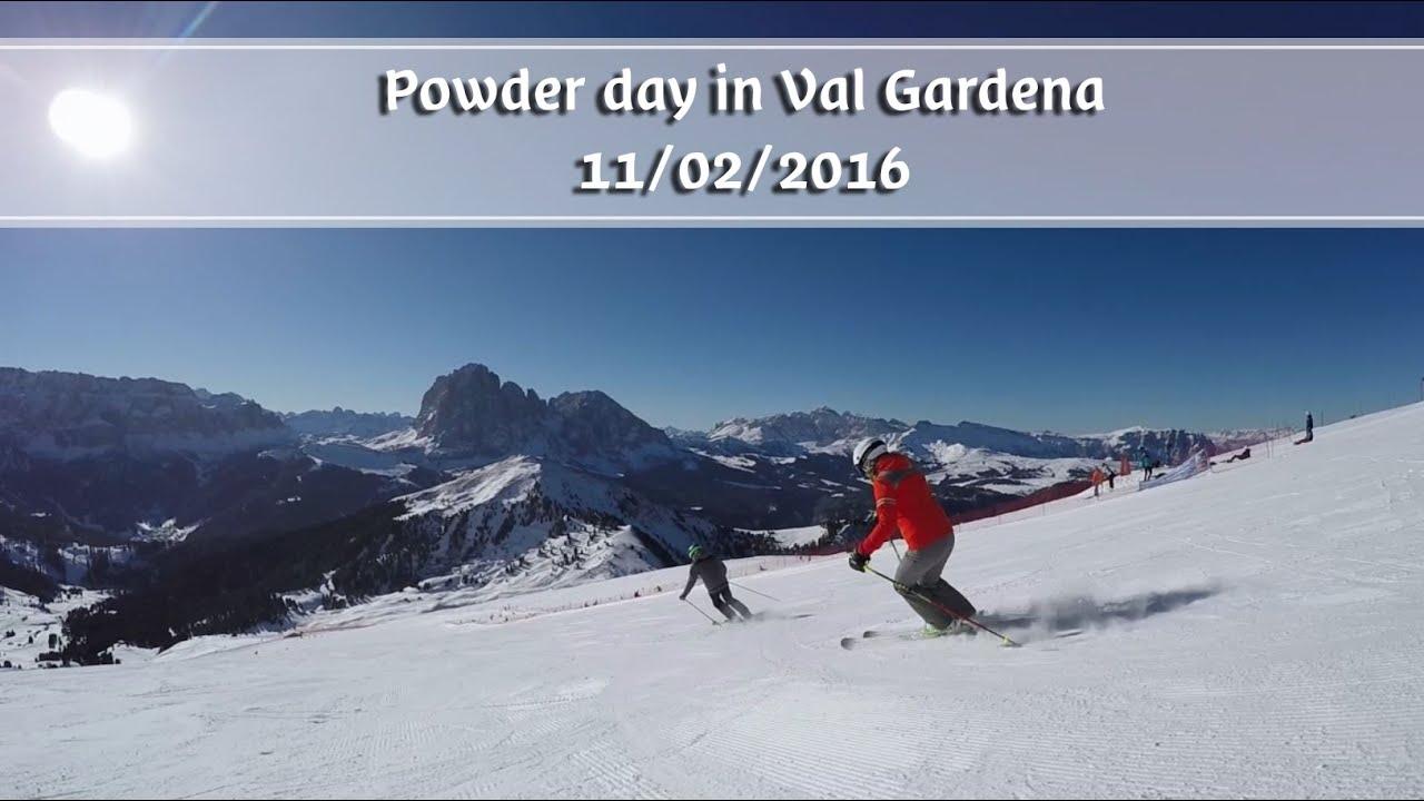 B�nun� te gherd�ina | powder day in val gardena | 11.02.2016