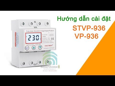 Hướng Dẫn Cài Đặt Công Tắc Bảo Vệ Lõi Điện Áp Và Dòng Điện 3 Pha 80A VP-936 STVP-936