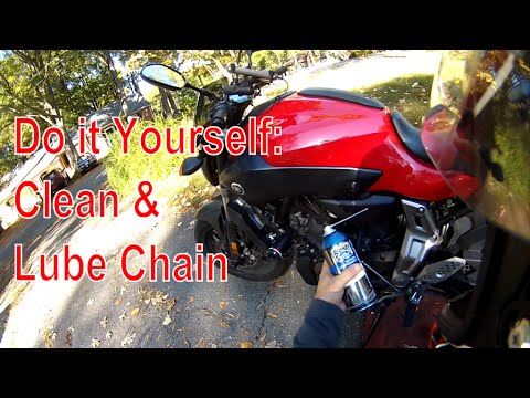 Clean and Lube Chain FZ-07