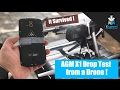 AGM X1 Rugged Phone Drop Test From a Drone