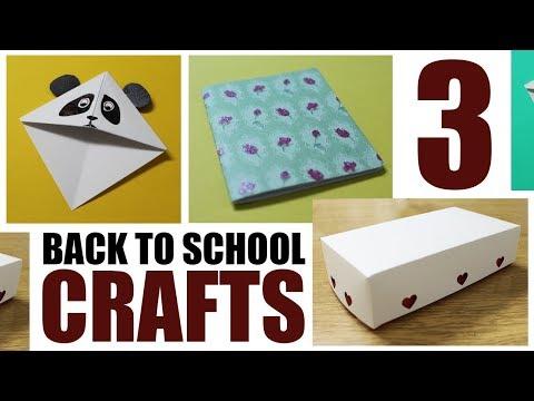 3 Back to School Paper Crafts - DIY School Supplies