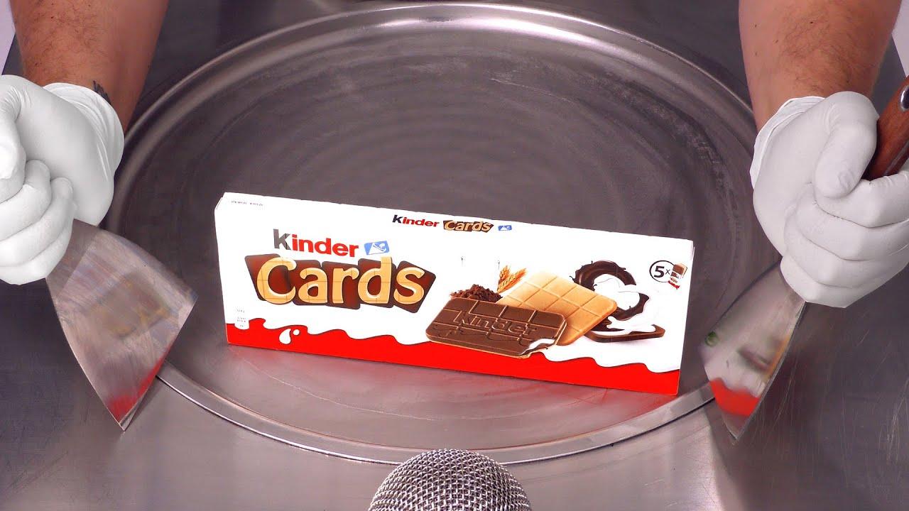 Kinder Cards - Ice Cream Rolls | ASMR