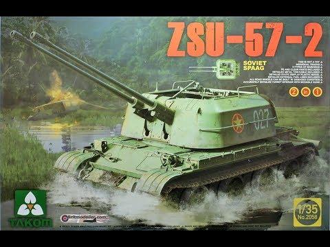 Takom - ZSU 57-2 - 1:35 Scale In Box Kit Review