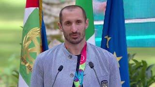 """Euro2020, Chiellini dedica la vittoria anche ad Astori: """"Lo avremmo voluto qui con noi oggi"""""""