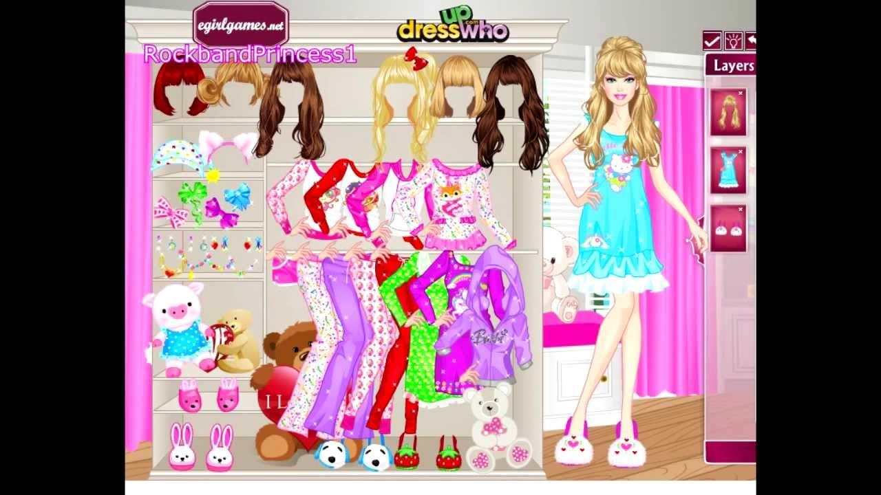 Barbie Pajama Party Dress Up Game - YouTube