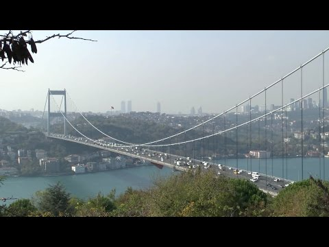 Istanbul Views of the Bosphorus and Fatih Sultan Bridge from Asia