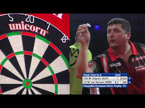 Mensur Suljovic v Michael van Gerwen - HappyBet European Darts Trophy Final