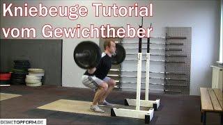 Kniebeuge (Squats) - Richtige Ausführung von Anfang bis Ende vom Gewichtheber