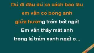 Di Trong Huong Tram Karaoke - Hoài Vũ - CaoCuongPro