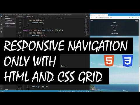 Responsive Navigation Only With Html And Css Grid