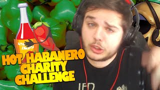 Habanero Hot Sauce Charity Challenge | Chugging Hot Sauce Challenge