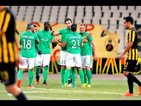 ASSE-AEK ATHÈNES le résumé du match aller (0-0) et retour (0-1)