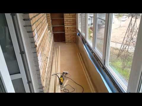 Обшивка 6 метрового балкона образцы.
