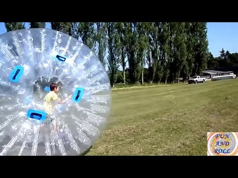 ZORBING-ON-GRASS 😄 KIDS