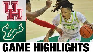 #8 Houston vs USF Highlights | College Basketball Highlights 2021