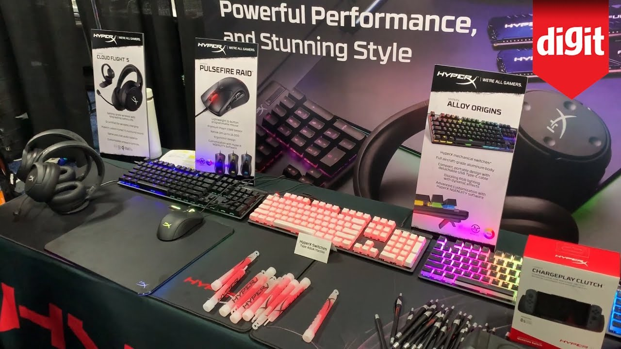 HyperX gaming products at CES 2020