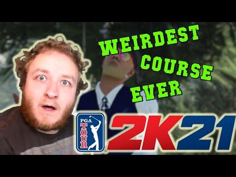 This is the WEIRDEST GOLF COURSE EVER! - PGA Tour 2K21 |
