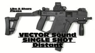 Vector Gun Sound Single Shot Distant