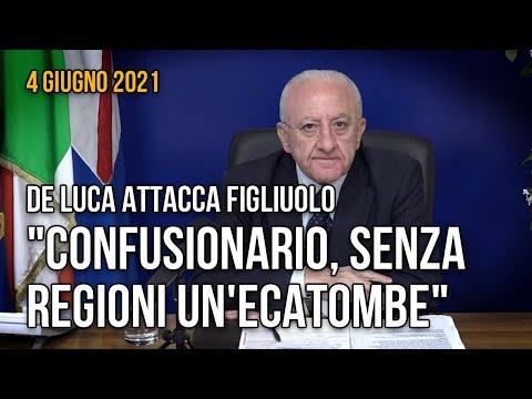 """De Luca: """"se fosse stato tutto nelle mani del Governo avremmo avuto un'ecatombe"""""""