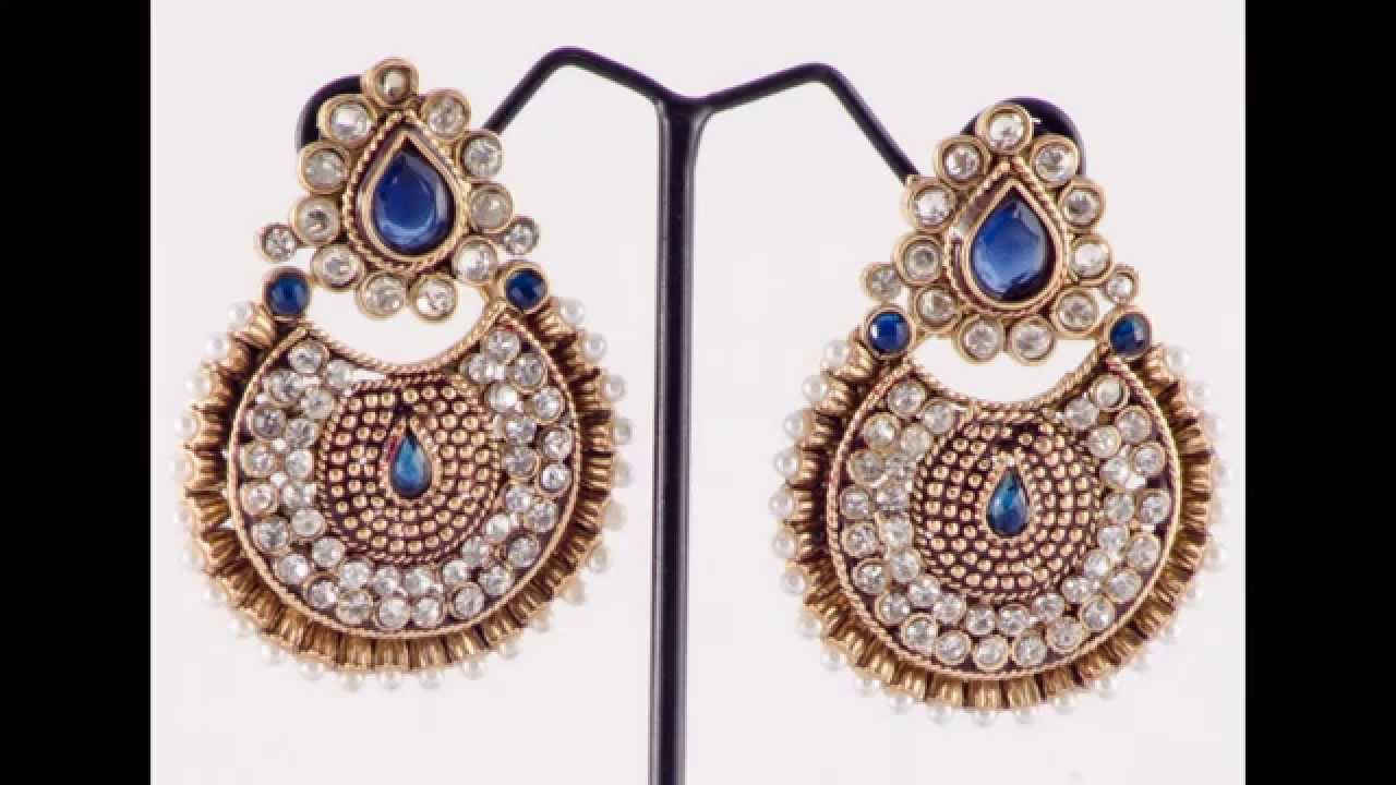 Indian party wear Beautiful earring collection part-1 - YouTube
