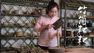云南香糯特色小吃:竹筒粑粑,小时候看西游记里猪八戒吃就看馋了【滇西小哥】