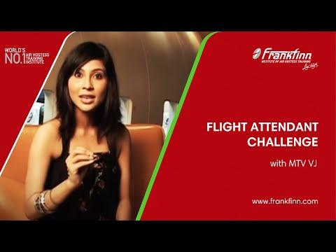 High Flyers MTV VJ takes on a Frankfinn student - flight attendant challenge!