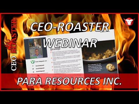 Para Resources Inc.: CEO-Roaster Webinar mit Geoff Hampson (TSX-V: PBR)