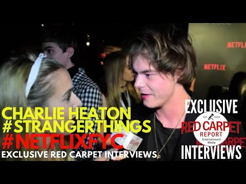Charlie Heaton #StrangerThings interviewed at Netflix's FYSee Space kick-off party #NetflixFYSee