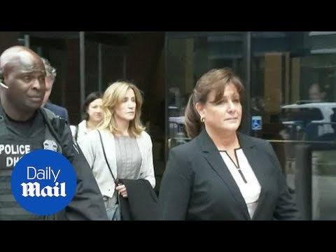 Felicity Huffman prepares to enter guilty plea in college scandal