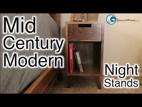 Mid Century Modern Walnut Nightstands // (Ep. 69)