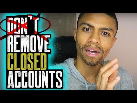 DON'T REMOVE CLOSED ACCOUNTS UNLESS NEGATIVE || CFPB DELETES ACCOUNTS