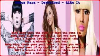 ariana grande ft jessi j n nicki minaj bang bang lyrics on screen 2014 hd