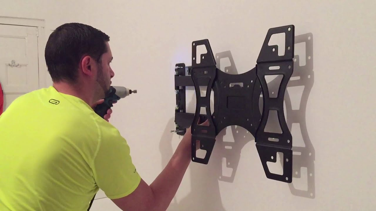 Instalacion de soporte de pared para tv de 26 hasta 55 - Soporte pared tv sin tornillos ...