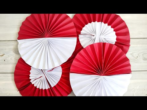 diy-paper-rosette-backdrop-|-indonesia-independence-day-decor