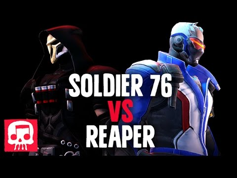 Thumbnail: SOLDIER 76 VS REAPER RAP BATTLE by JT Machinima