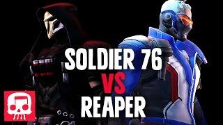 Repeat youtube video SOLDIER 76 VS REAPER RAP BATTLE by JT Machinima