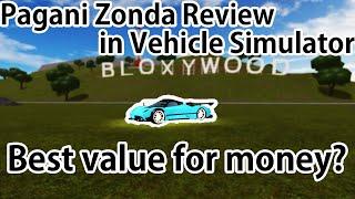 Pagani Zonda Review in Vehicle Simulator (Roblox)